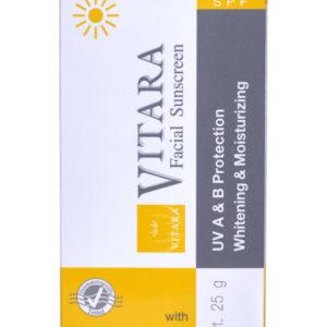 AloeVera-VITARA Gesicht-Sonnenschutz 40, 25 g Tube
