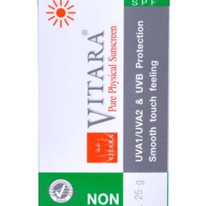 AloeVera-VITARA Gesicht-Sonnenschutz 50 Non Chemical Sunscreen, 25 g Tube