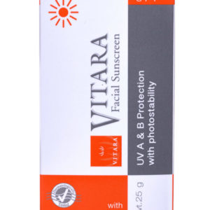 AloeVera-VITARA Gesicht-Sonnenschutz 50, 25 g Tube